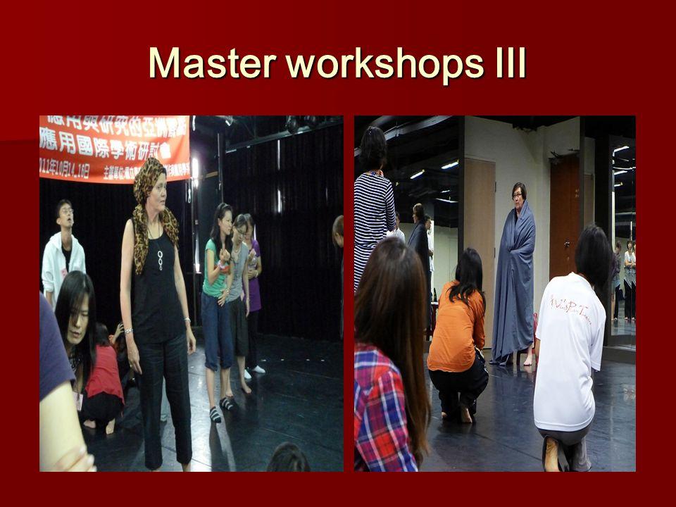 Master workshops Ⅲ