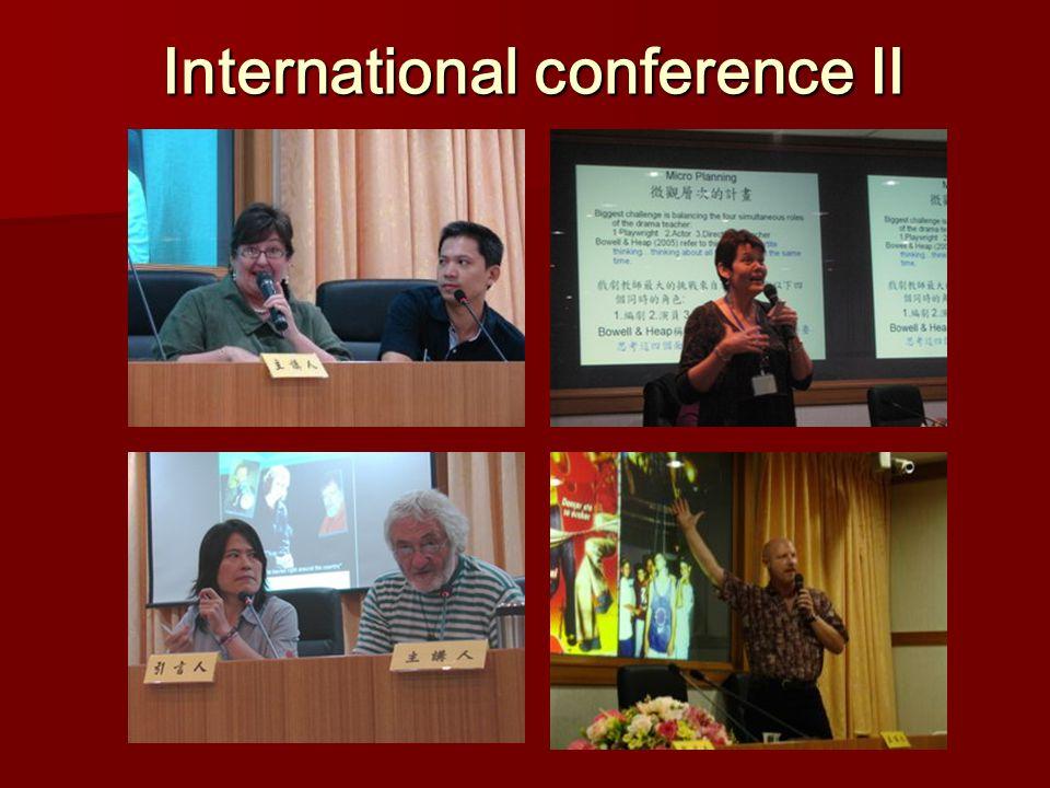 International conference Ⅱ International conference Ⅱ