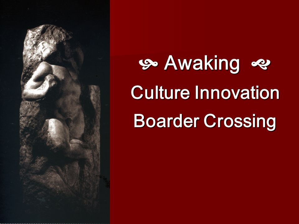  Awaking  Culture Innovation Boarder Crossing
