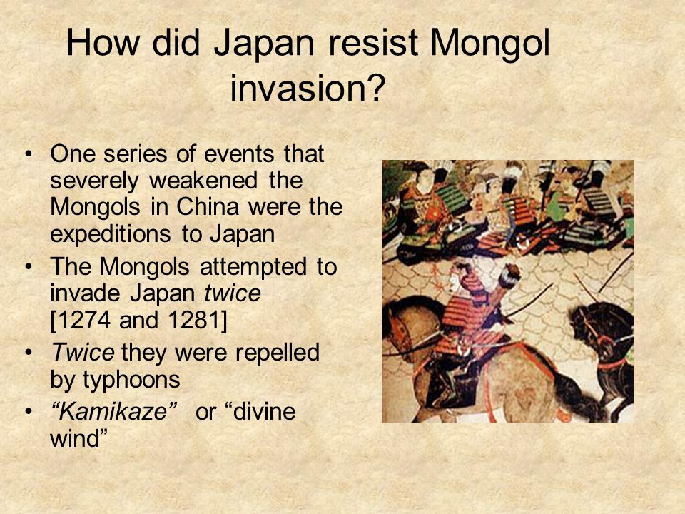 How did Japan resist Mongol invasion.