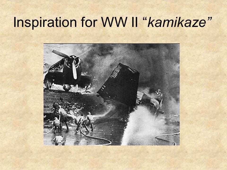 Inspiration for WW II kamikaze