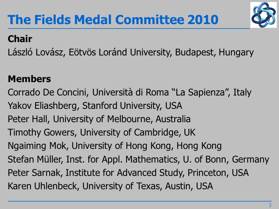 Gauss Prize Committee 2010 Chair Wolfgang Dahmen, RWTH Aachen, Germany Members Rolf Jeltsch, ETH Zürich, Switzerland Servet Martinez Aguilera, Universidad de Chile, Chile William R.
