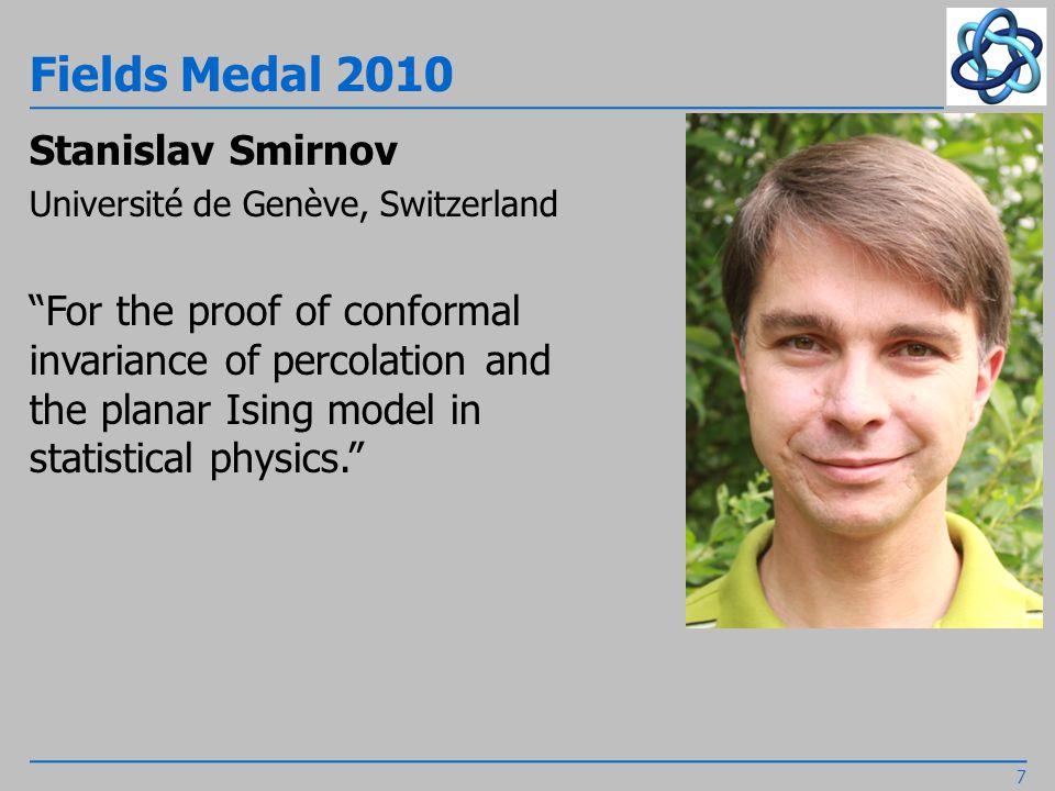 Fields Medal 2010 Cédric Villani Institut Henri Poincaré, Paris, France For his proofs of nonlinear Landau damping and convergence to equilibrium for the Boltzmann equation. 8