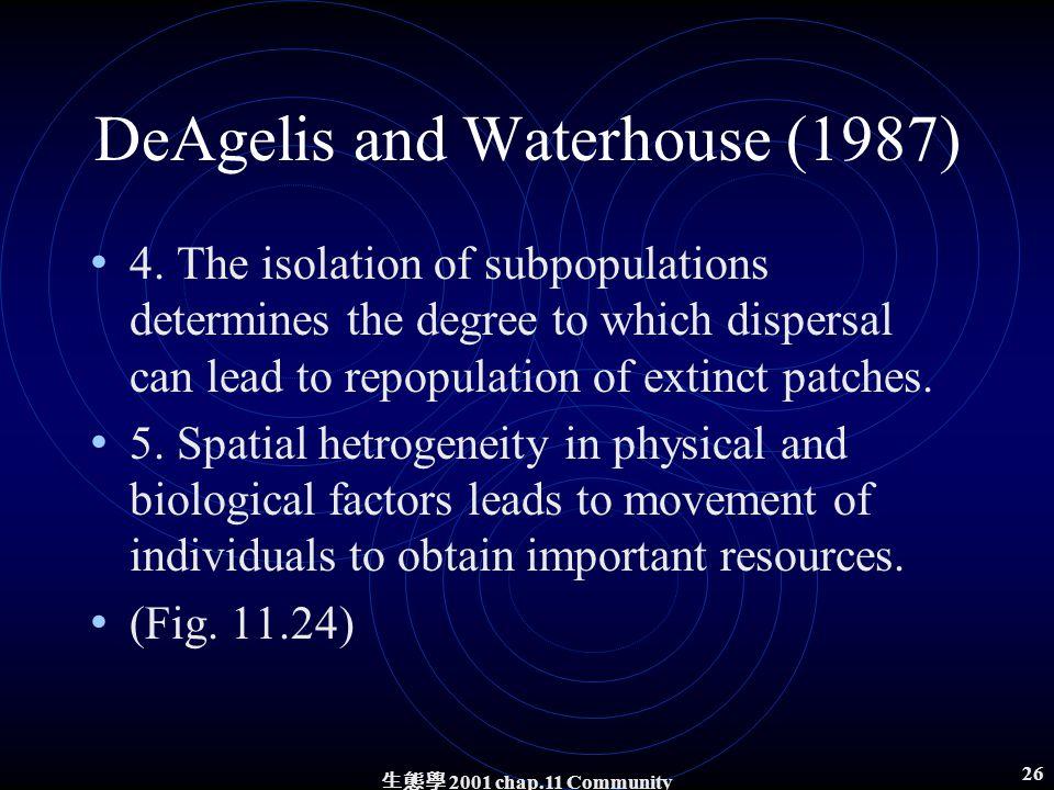 生態學 2001 chap.11 Community structure 25 Three mechanisms 1.