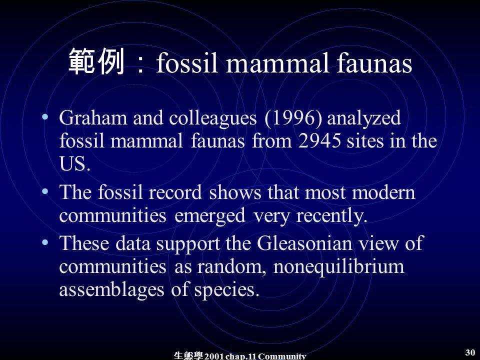 生態學 2001 chap.11 Community structure 29