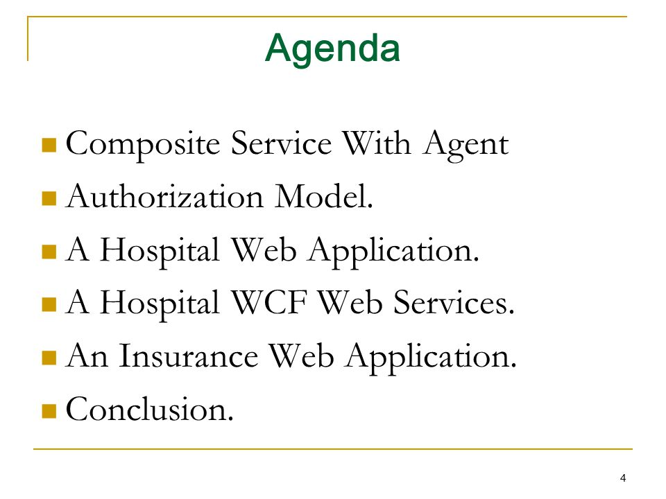 Agenda Composite Service With Agent Authorization Model.