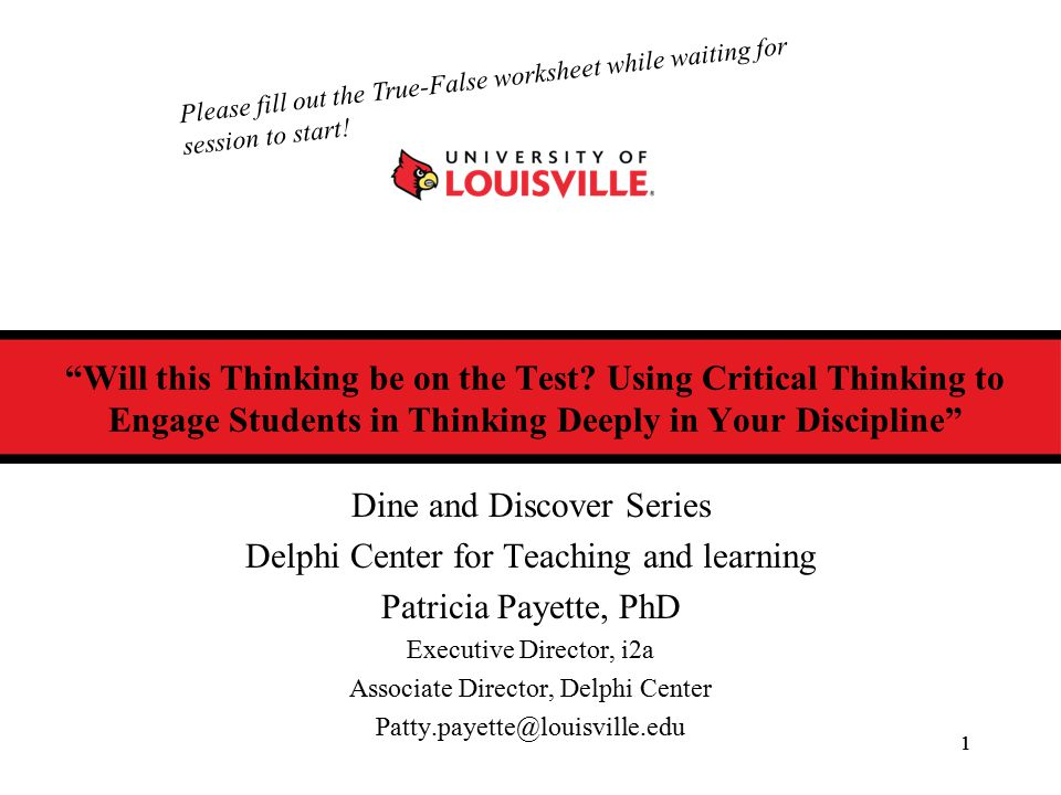 How do you make critical thinking visible .