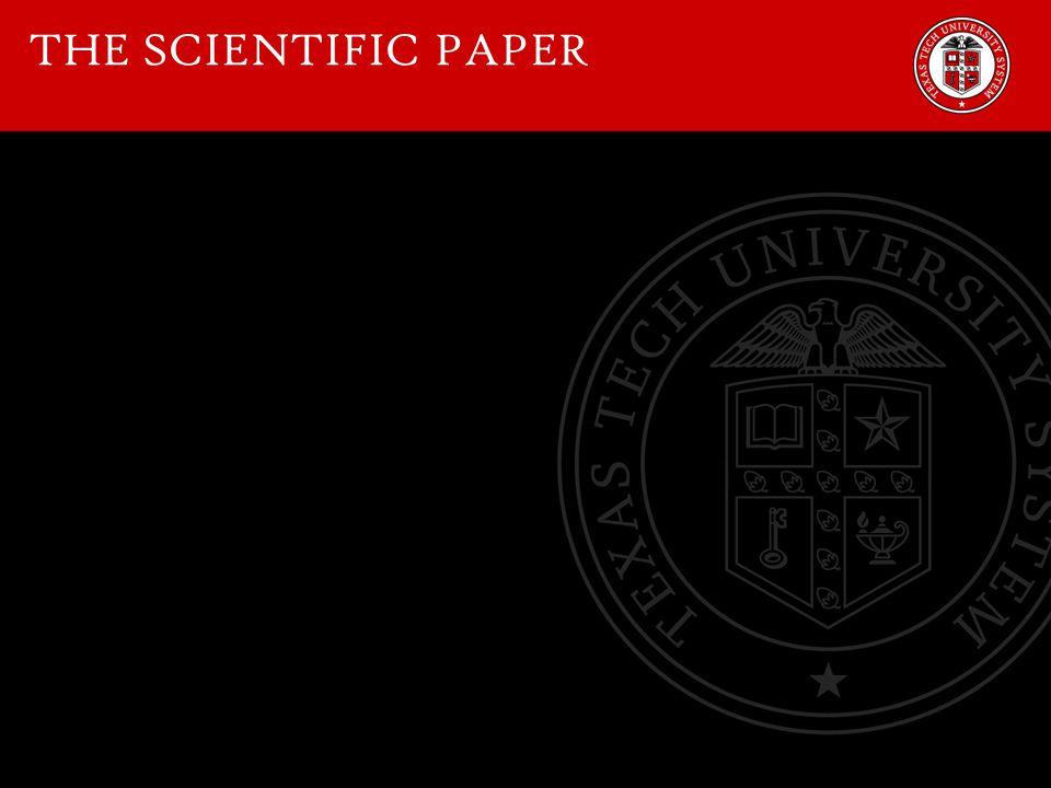THE SCIENTIFIC PAPER