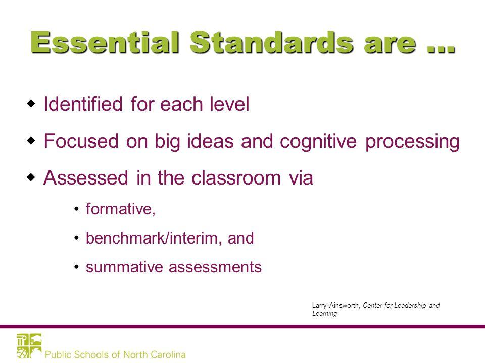 ES Identification Criteria Knowledge & Skills...