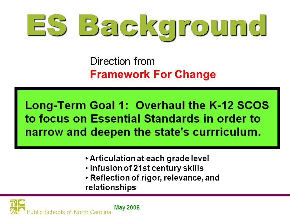 Essential Standards Background
