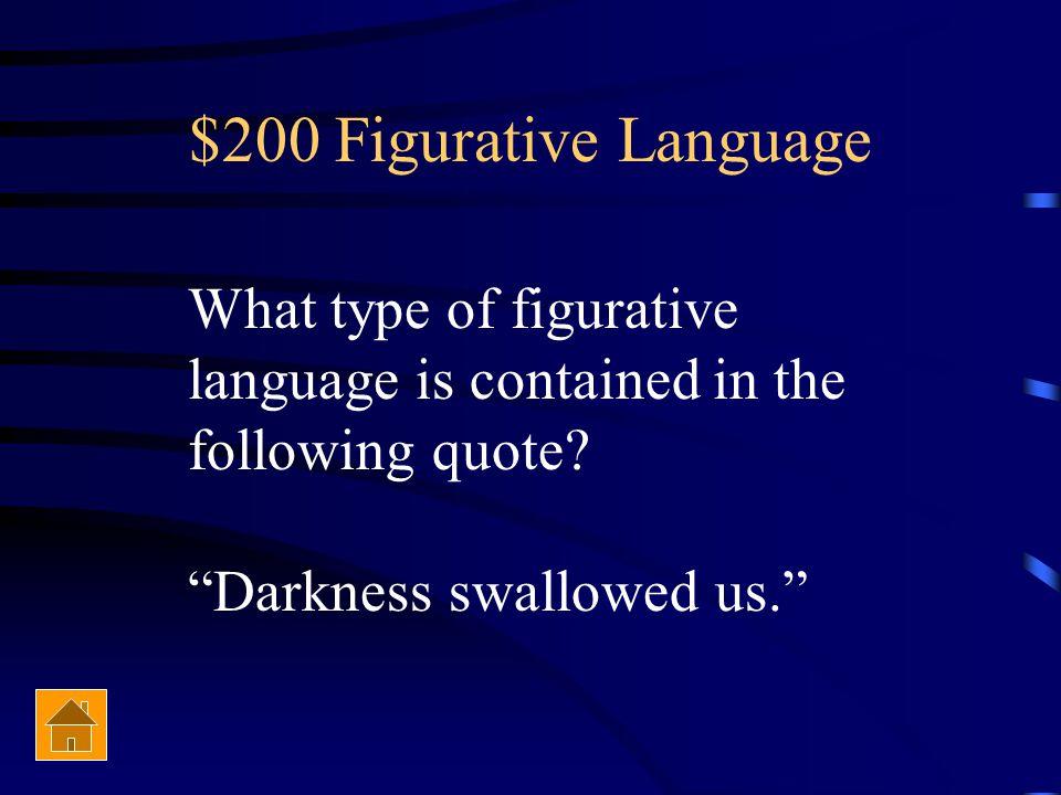 $100 Figurative Language Who is Prometheus?
