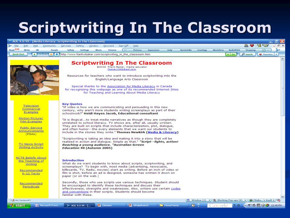 Scriptwriting In The Classroom
