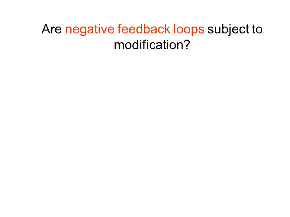Are negative feedback loops subject to modification