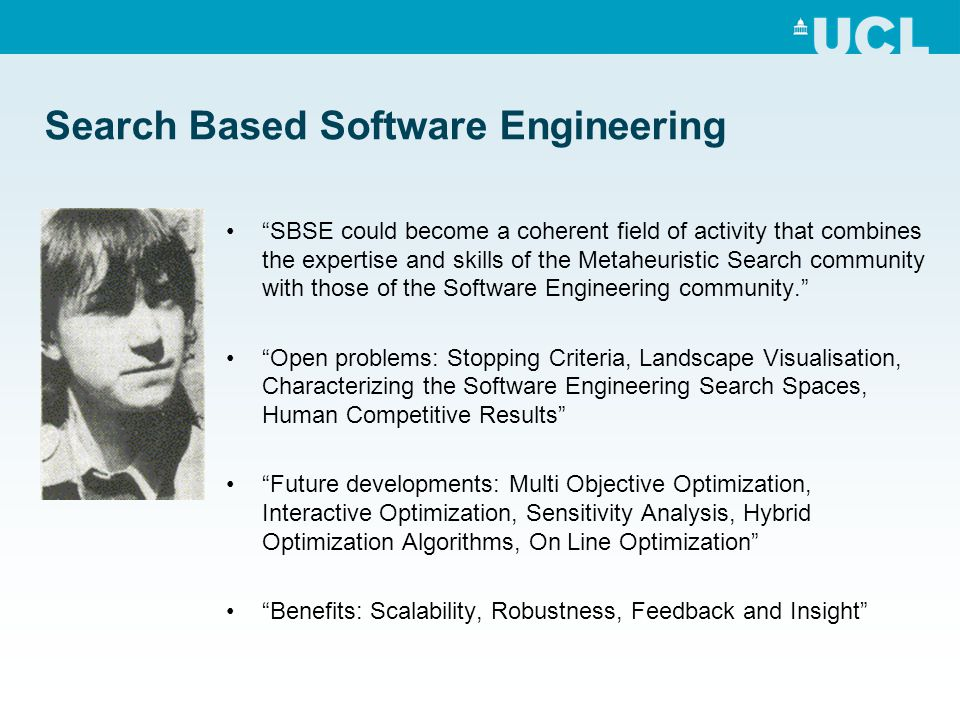 Big problems in SE The major challenge faced by software projects is increasing complexity as we create systems by integrating systems and services from different providers. The assumption that underlies much of software engineering is that the developer of the software is in control of the system and can therefore make rational decisions about how to develop and change the system. When this assumption is no longer true, methods such as software testing methods have to evolve to take this into account.
