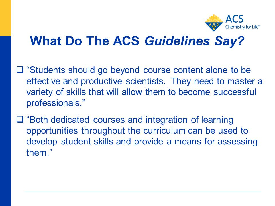 What Do The ACS Guidelines Say.