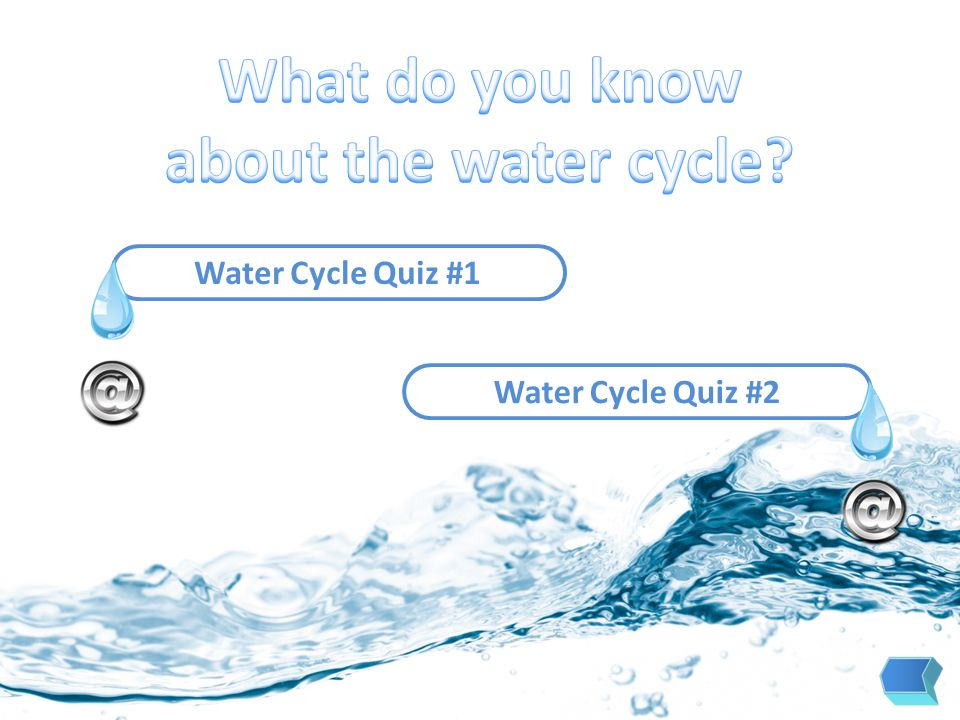 Water Cycle Quiz #1 Water Cycle Quiz #2