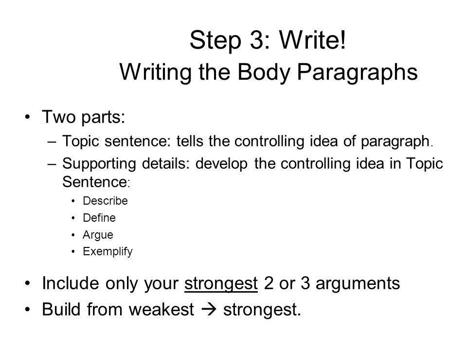 Step 3: Write.