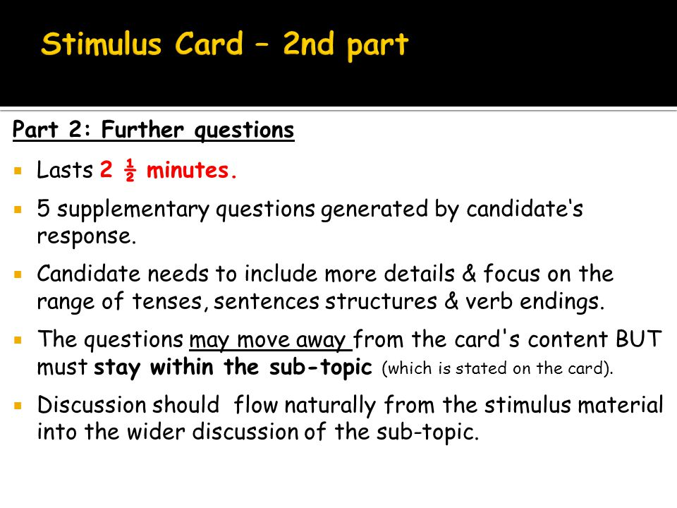  Part 1 (printed questions) - 5 marks overall 5 marks: Student develops a wide range of relevant points.