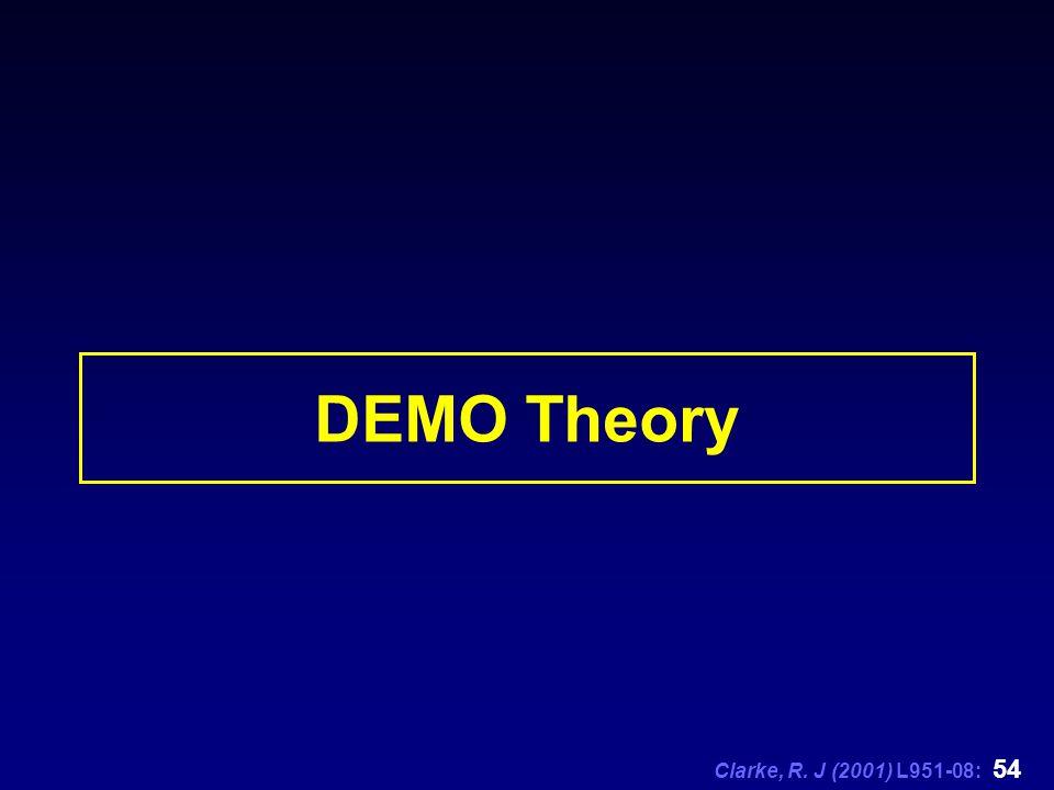 Clarke, R. J (2001) L951-08: 54 DEMO Theory