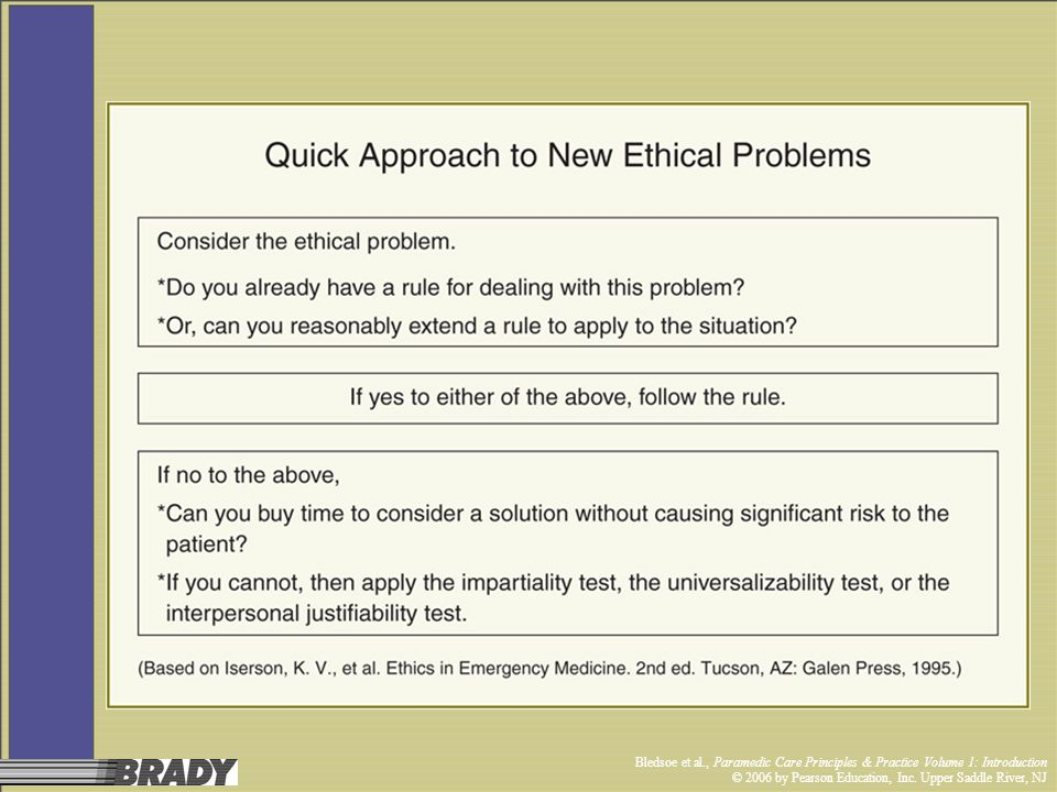 Bledsoe et al., Paramedic Care Principles & Practice Volume 1: Introduction © 2006 by Pearson Education, Inc. Upper Saddle River, NJ