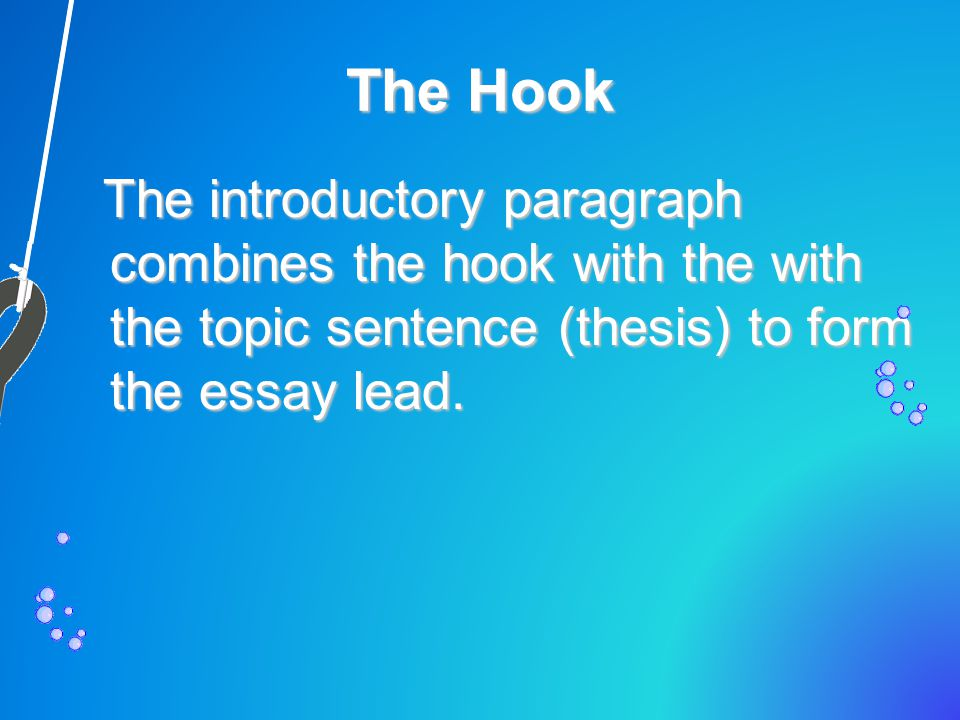 The Hook: What's the Point.The hook paragraph makes the reader want to learn more.