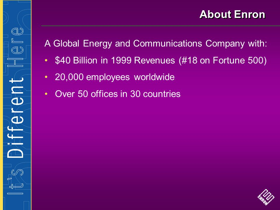 The Businesses—Enron North America