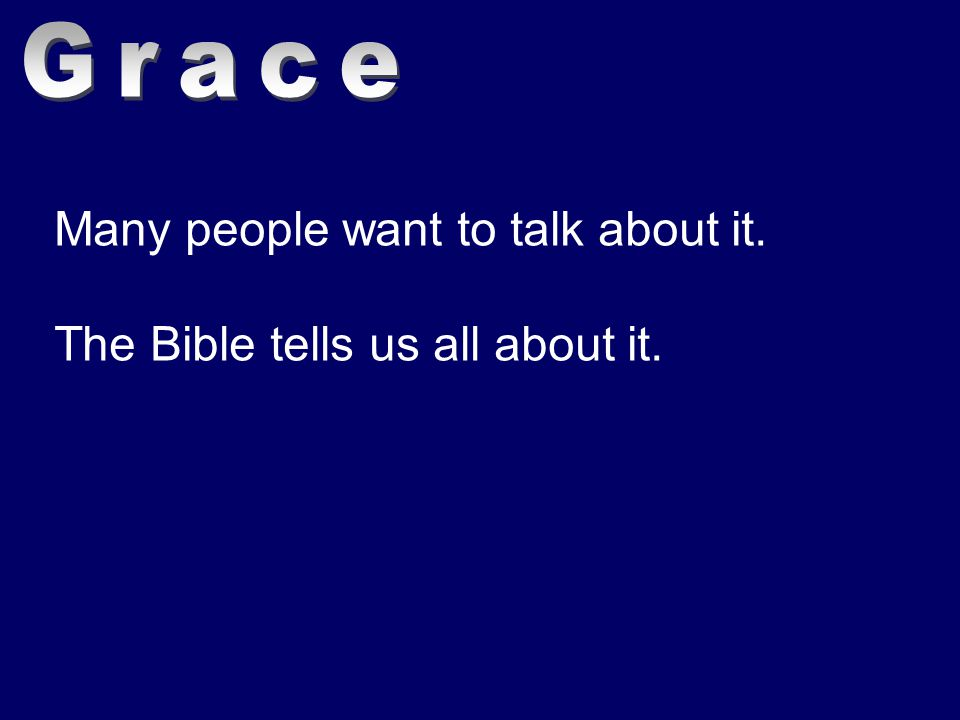 Many people want to talk about it. The Bible tells us all about it.