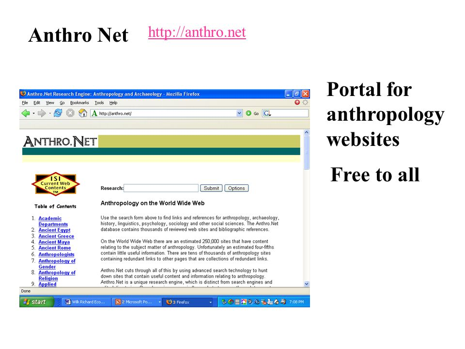 http://anthro.net Anthro Net Portal for anthropology websites Free to all