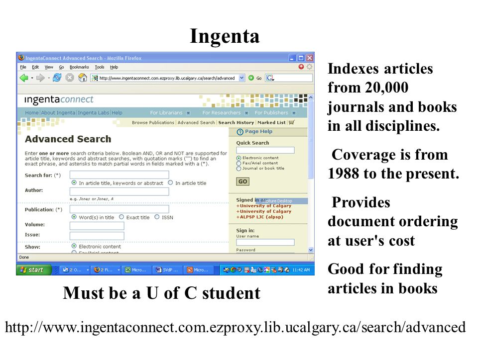 Indexes articles from 20,000 journals and books in all disciplines.