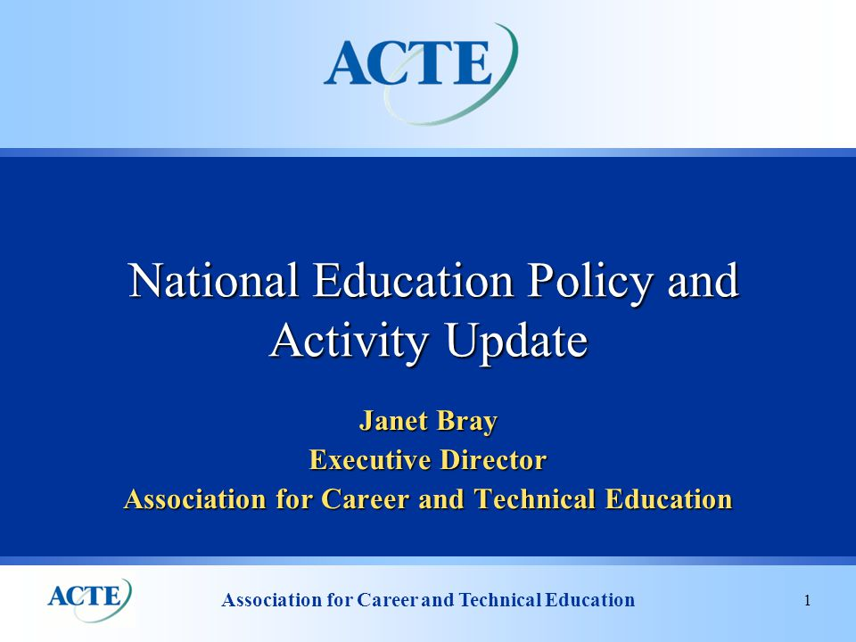 Association for Career and Technical Education 12 ARRA Funding Department of Education Available:$67.6 billion Paid Out:$18.38 billion Department of Labor Available:$31.75 billion Paid Out:$24.67 billion