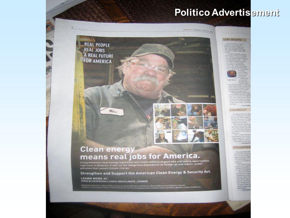 Politico Advertisement