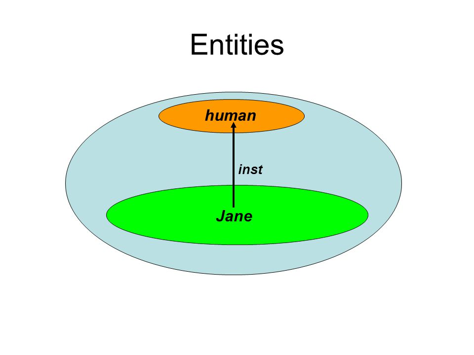 Entities human Jane inst