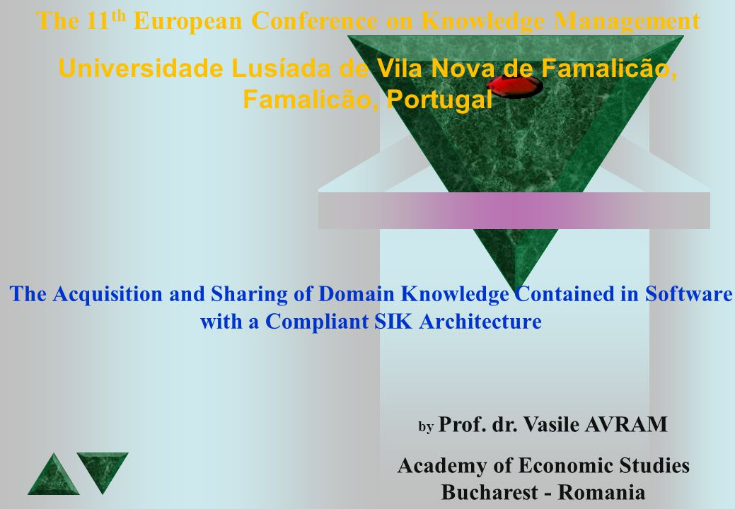 The Acquisition and Sharing of Domain Knowledge Contained in Software with a Compliant SIK Architecture by Prof.