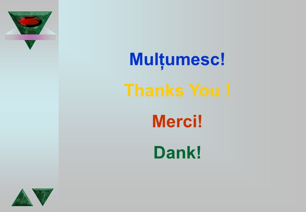Mulţumesc! Thanks You ! Merci! Dank!