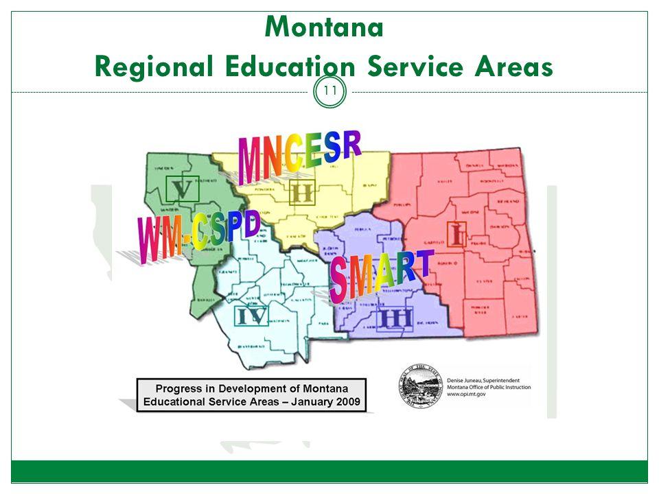 Montana Regional Education Service Areas 11