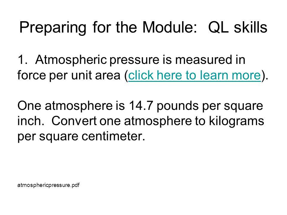 Preparing for the Module: QL skills 1.