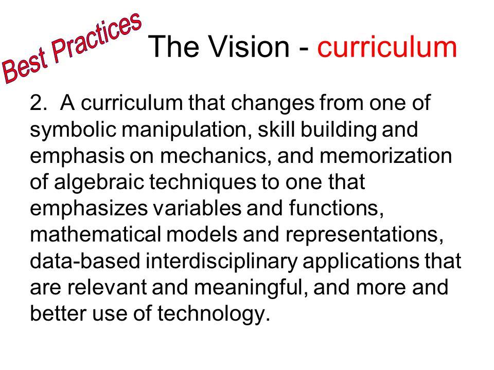 The Vision - curriculum 2.