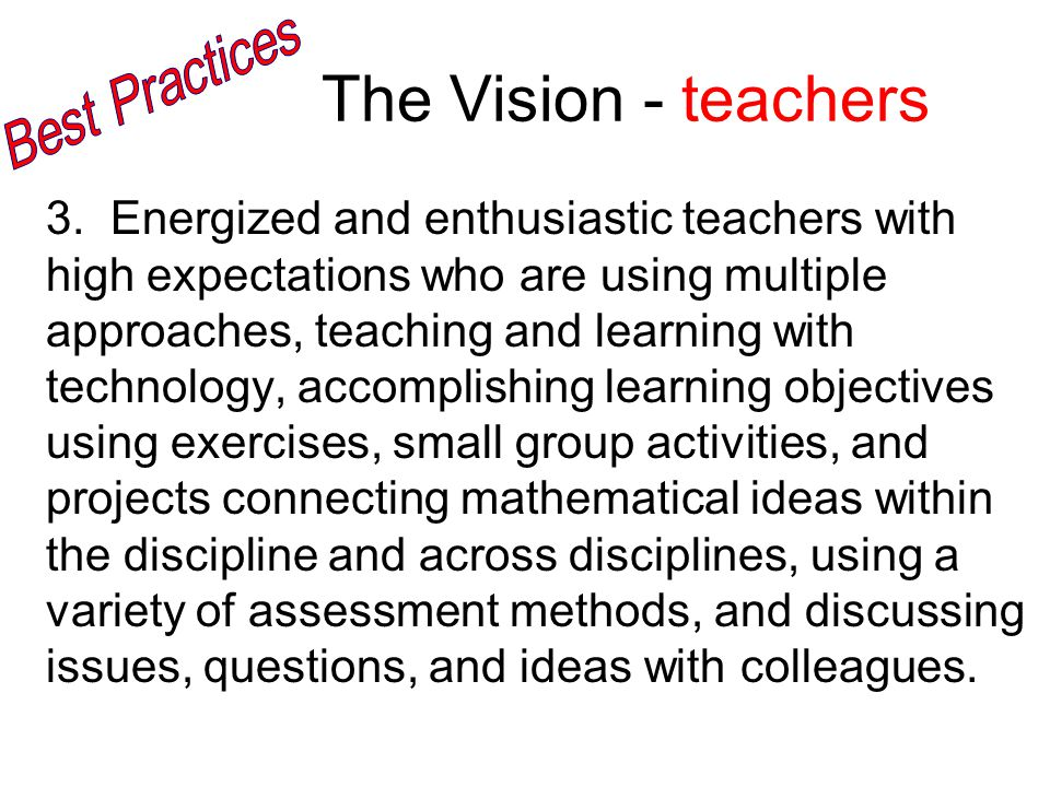 The Vision - teachers 3.