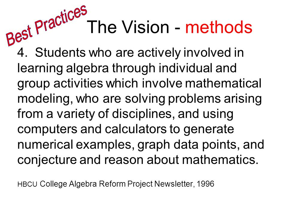 The Vision - methods 4.