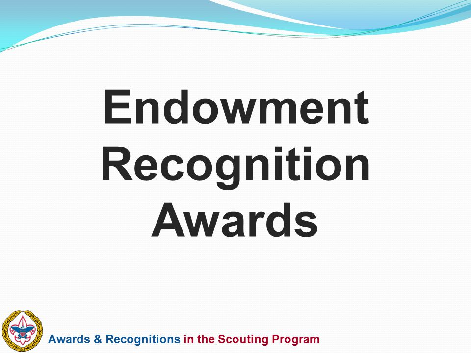Awards & Recognitions in the Scouting Program Endowment Recognition Awards