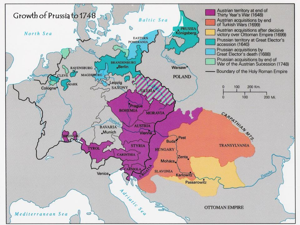 Growth of Prussia to 1748