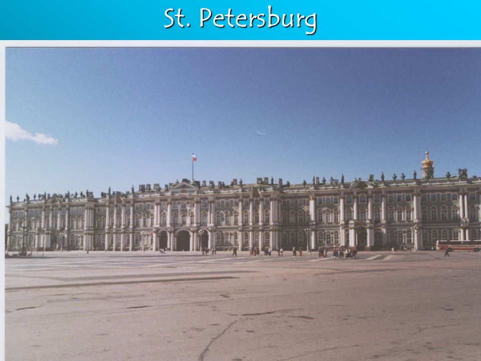 "St. Petersburg Built ""Winter Palace"" on the BalticBuilt ""Winter Palace"" on the Baltic Moved gov't there including the Boyars. (Just like Louis)Moved g"