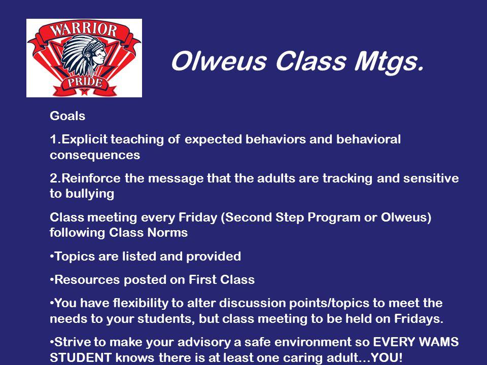 Olweus Class Mtgs.