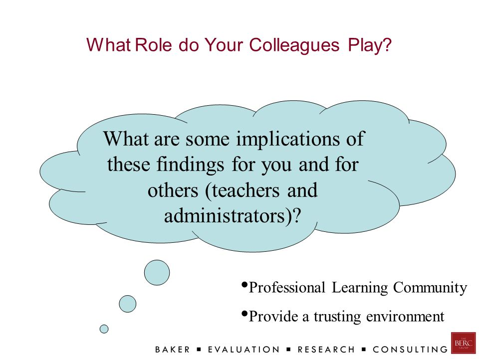 What Role do Your Colleagues Play.