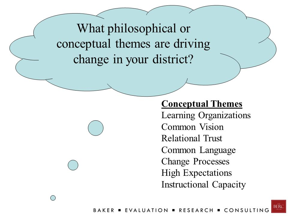 What philosophical or conceptual themes are driving change in your district.