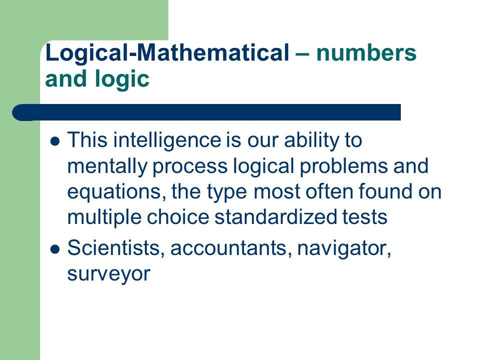Constructing An Intelligence Test