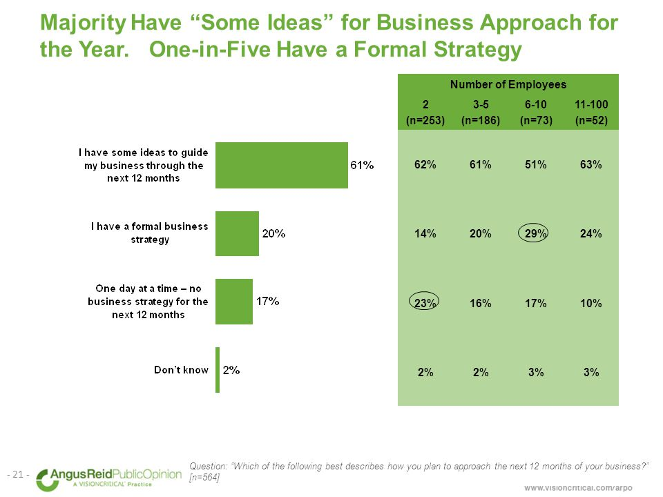 Majority Have Some Ideas for Business Approach for the Year.