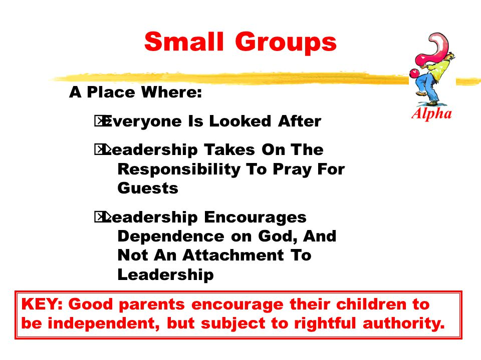 Small Groups  Video Discussions Are Like A Deluge -LOTS Of Water -LOTS Of Run Off  Discussion Groups Are Like Watering Your Favorite Plant -Personal, And Up Close -Time To Prune, Observe KEY: Truth across the table works best.