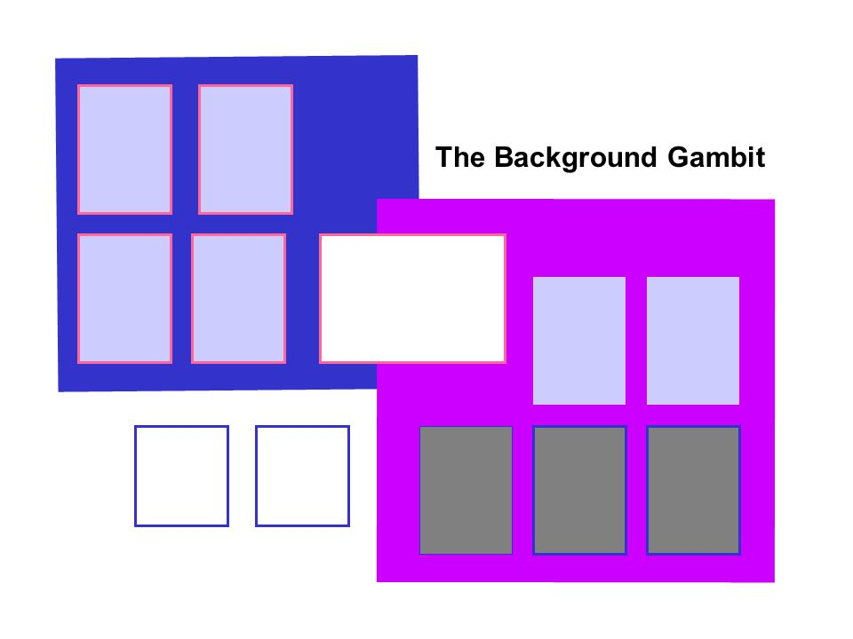 The Background Gambit