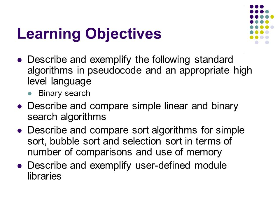 Topic 7 Standard Algorithms